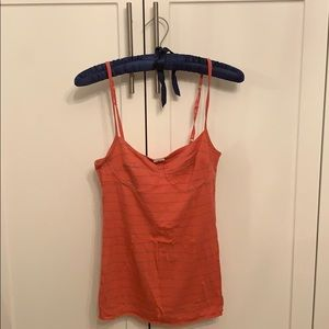 Aritzia Wilfred Pink & Gray Striped Camisole